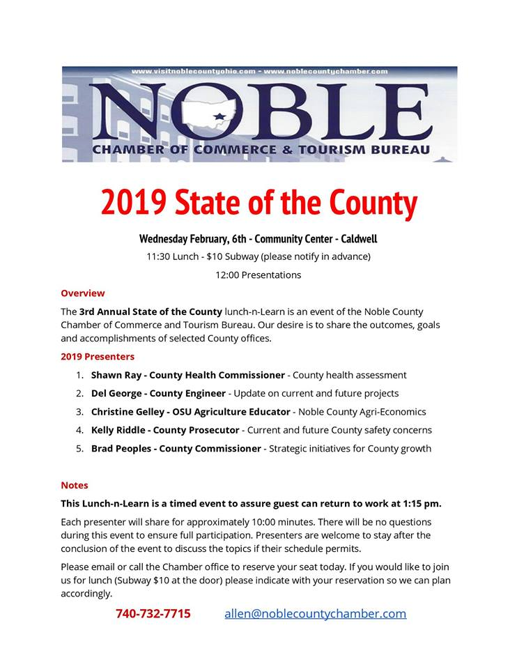 State of County Agenda