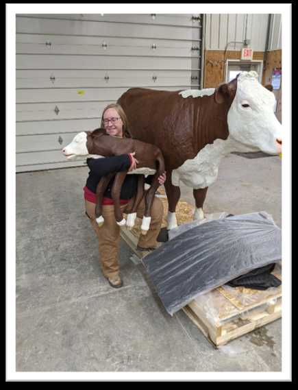 Christine with Cow